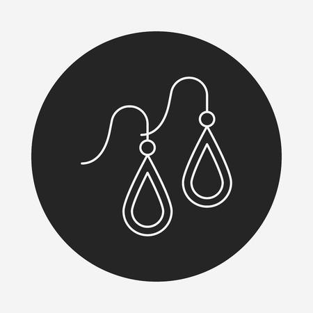 earring line icon Illustration