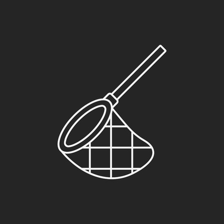 fisheries: fishing net line icon