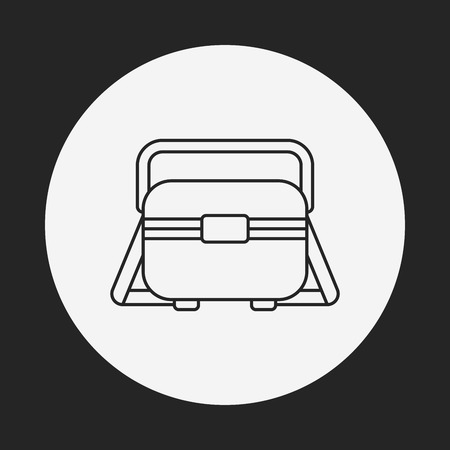 tackle box: fishing box line icon