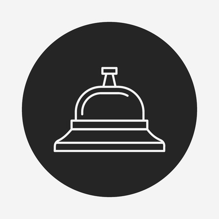 service bell: Service bell line icon