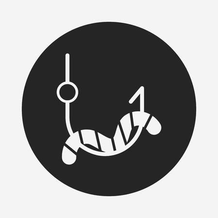fishing bait: fishing bait icon Illustration