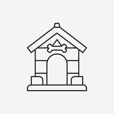 doghouse: dog house line icon Illustration