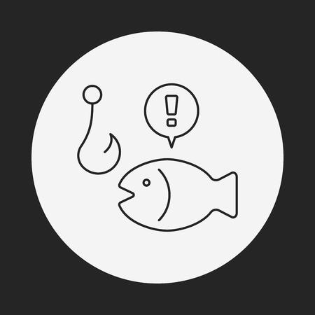 bait: fishing bait line icon