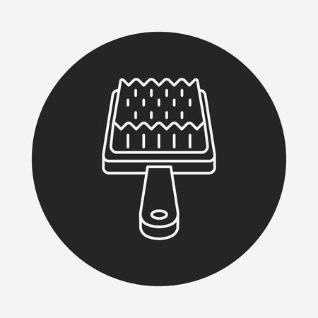 groomer: pet brush line icon