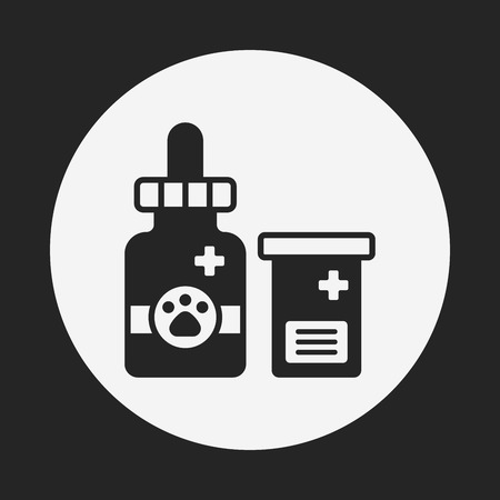 animal health: pet drug icon