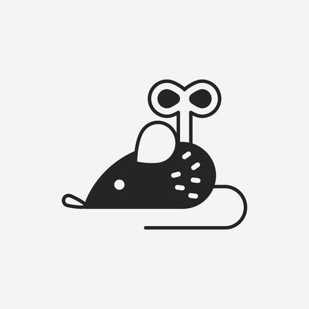 the mouse: icono del juguete del ratón Vectores