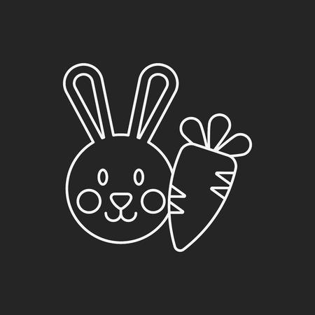 animal themes: pet rabbit line icon