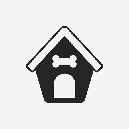 casa de perro: icono de la casa del perro
