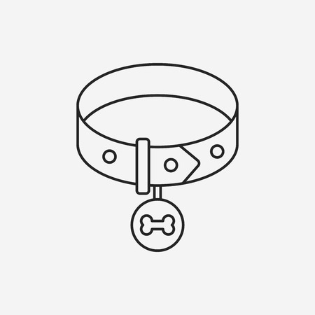 dog chains line icon