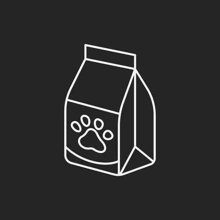 comida perro: mascotas perro icono de l�nea de alimentos