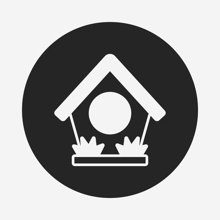 maison oiseau: bird house icon Illustration