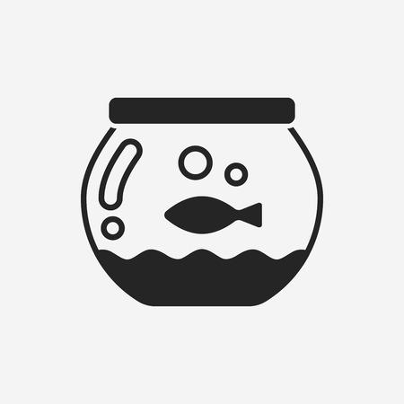 fish bowl icon  イラスト・ベクター素材