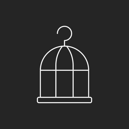 captured: bird cage line icon