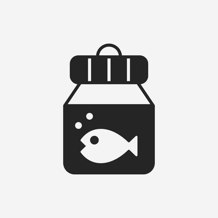 fish bowl: fish bowl icon Illustration