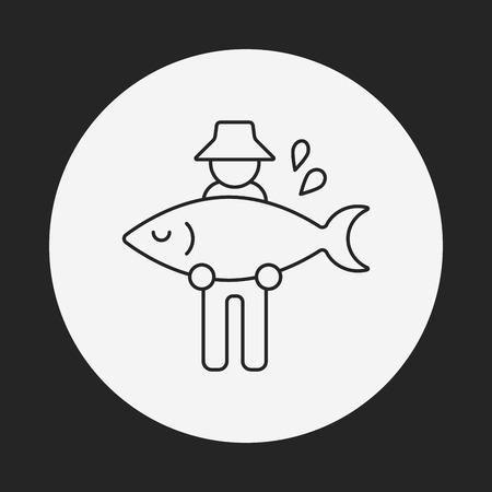 pescador: icono de l�nea pescador