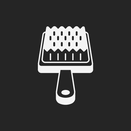 cat grooming: pet brush icon