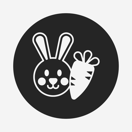 animal themes: pet rabbit icon
