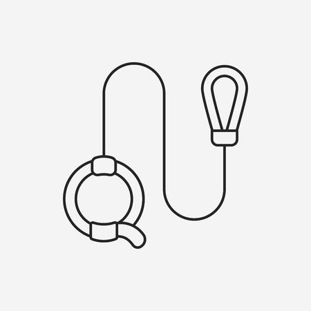 lead: dog lead line icon