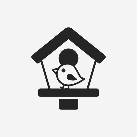 captured: bird cage icon Illustration