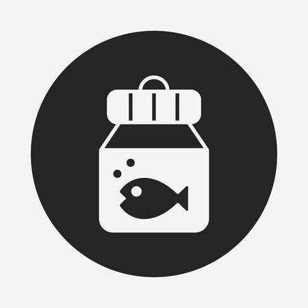 fish bowl icon Illustration