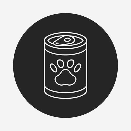 animal feed: pet dog food line icon Illustration