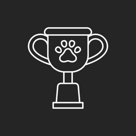 doggies: pet champion line icon Illustration