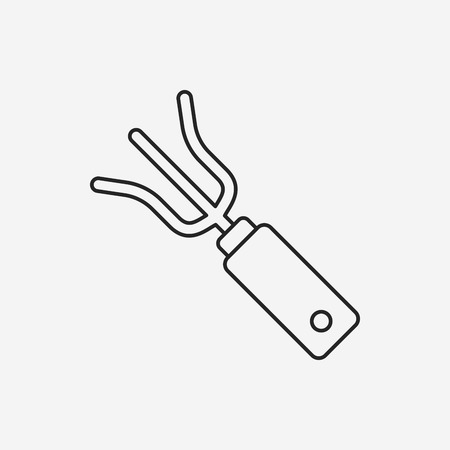 hand trowels: gardening shovel line icon
