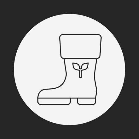 botas de lluvia: Botas de lluvia icono l�nea Vectores