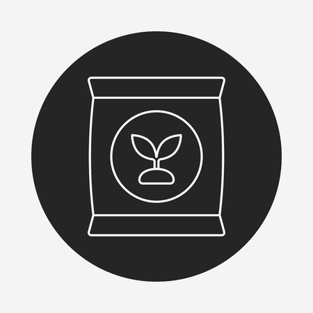 fertilize: Fertilizer line icon