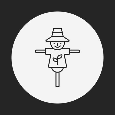 scarecrow: Scarecrow line icon