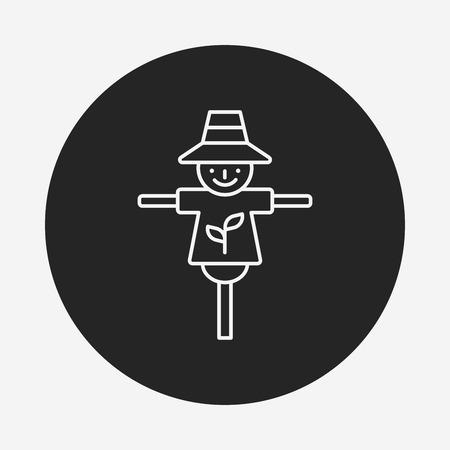 espantapájaros: Icono de la línea espantapájaros