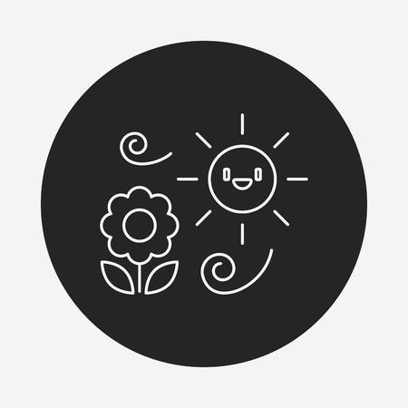 leaf line: plant line icon Illustration