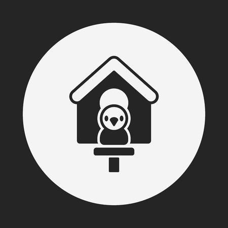 maison oiseau: maison d'oiseau ic�ne Illustration