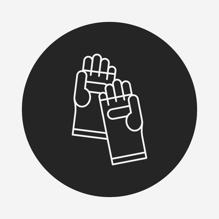 working gloves: Working gloves line icon