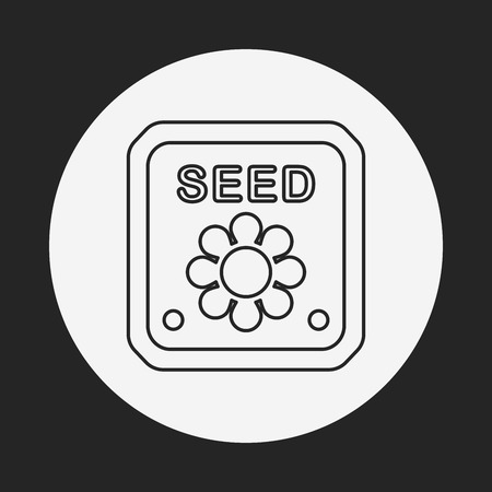 beans and rice: seed line icon
