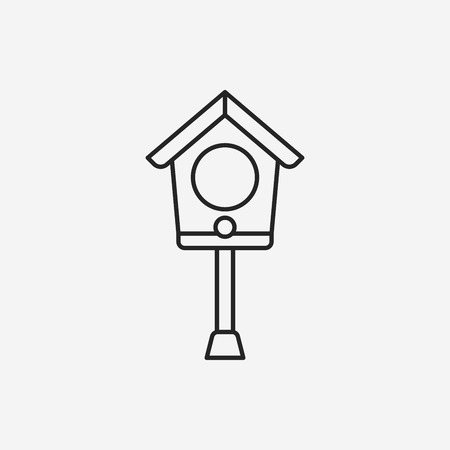 birdcage: bird house line icon