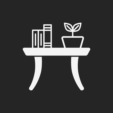 interior decoration: desk table icon Illustration