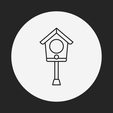 maison oiseau: oiseau ic�ne de la ligne de la maison