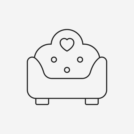 luxury homes: chair line icon Illustration