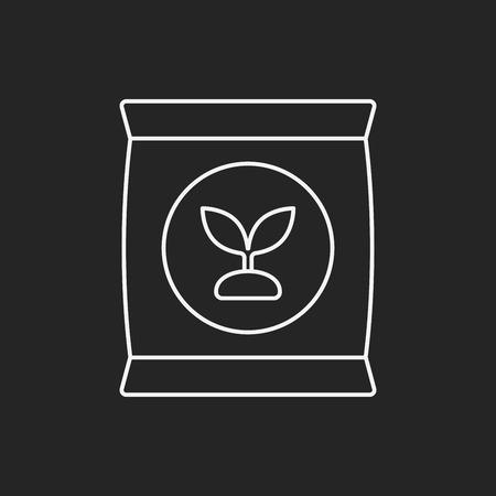 white phosphorus: Fertilizer line icon