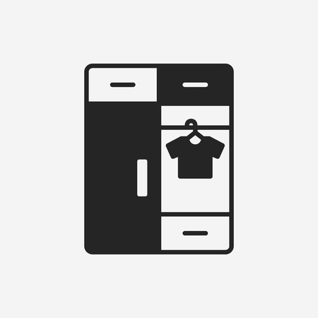 cabinet: closet cabinet icon Illustration