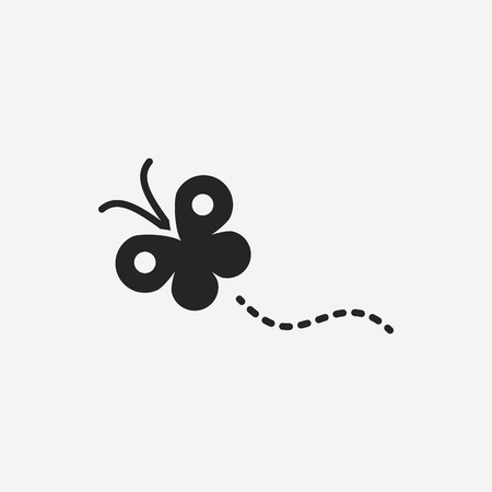 white butterfly: butterfly icon Illustration