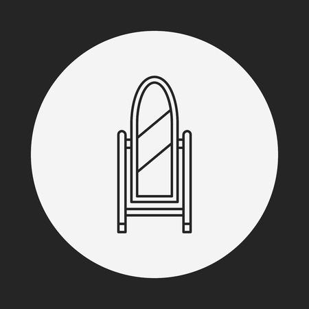 mirror: mirror line icon