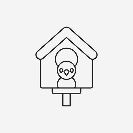 captured: bird house line icon
