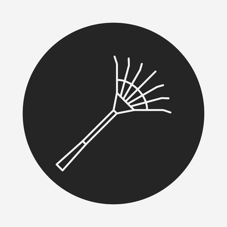 rake: Rake line icon Illustration