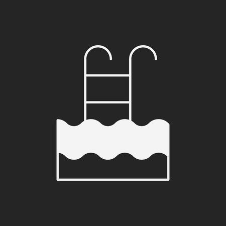 poolside: swimming pool icon Illustration