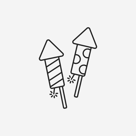 firecrackers: Firecrackers line icon