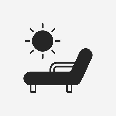 porch chair: lounge icon