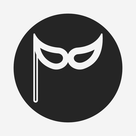 party mask: party mask icon Illustration