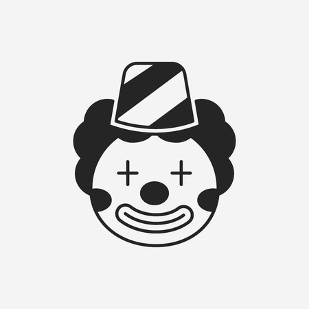 face  illustration: clown icon